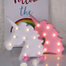 Unicorn LED Light Lamp Night 3D Wall Star Cloud Kids Baby Bedroom Decoration