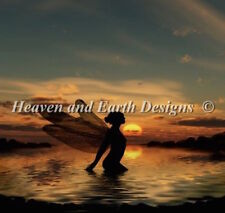 10% Off Heaven & Earth Designs Counted X-stitch chart - Mini Fairy at Sunset