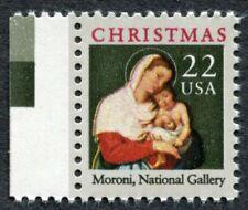 CHRISTMAS STAMP - MORONI MADONNA+CHILD - 1987 Scott #2367 with FREAK ERROR (232)