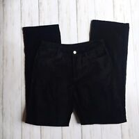 LOFT Womens Size 2 Black Velvet Velour Straight Leg Pants Office Business