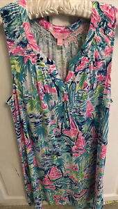 sleeveless Lilly Pulitzer, floaty, for summer, Barely Worn. Size L, 26 in long