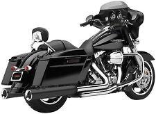 Cobra Exhaust 4.5in. Black Powerflo Slip-On Mufflers Harley FLH, FLT - 6215B