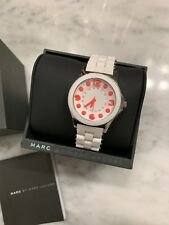 Marc Jacobs Watch Women's MBM2588 Pelly White Stainless steel and Silicone NWT