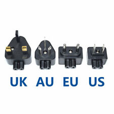 US EU AU UK Plugs Standard 2 pin Prong Figure 8 AC Power ADAPTER (4PCS) Travel