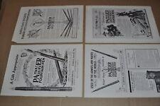 1914-17 PARKER PEN advertisements x4, Parker fountain pens