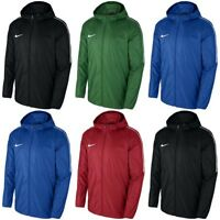 Nike Kids Rain Jackets Junior Boys Windproof Wind Breaker Lightweight Raincoat