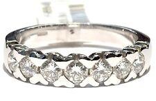 anello veretta in oro bianco 18 kt con 7 diamanti ct 0,75 F VVS1 n 16