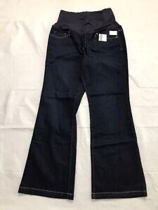 Gap Maternity Jeans Size 33/16r Long And Lean Dark Wash Stretch Denim Flare NWT