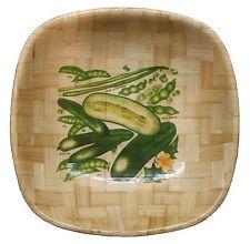 Gemüse Motiv Deko Snack Obstsalat Bambus Schüssel Tisch Brot Korb #35
