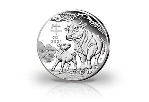 Lunar Serie 1 kg Silber 2021 Australien Jahr des Ochsen
