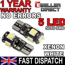 VW Golf MK4 MK5 Reposapiés Xenon Blanco Canbus Libre De Errores 5 Bombillas LED W5W 501 T10