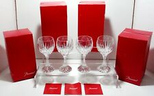 4 BACCARAT CRYSTAL MASSENA BORDEAUX WINE GLASSES #4 ~ DOUBLE SIGNED ~ 5 7/8""