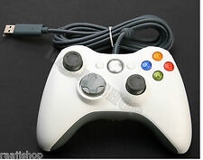WHITE BRAND NEW USB cablato Controller per Microsoft XBOX 360 PC Windows UK Venditore