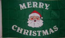 NEW 3ftx5 GREEN SANTA MERRY CHRISTMAS DECORATION STORE FLAG