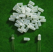 XPT02W 100pcs WHITE Caps / Covers for 5mm Grain of Wheat Bulbs LEDs NEW