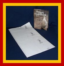 """25 pack 16"""" x 30"""" Brodart Fold-on Book Covers - lo-luster, adjustable"""