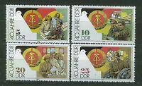 ALEMANIA/RDA EAST GERMANY 1989 MNH SC.2776/79 DDR 40th annv.