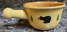 Big Sky Carvers Bearfoots Soup Bowl Black Bear Jeff Fleming Rustic Handle New