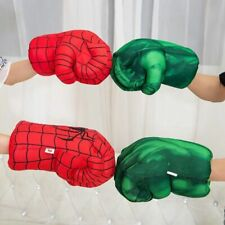 Hulk Spider-Man Plush Hands Boxing Fist Glove Cosplay Props Kids Toys Christmas