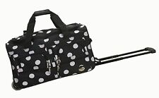 """Rockland PRD322 22"""" Rolling Duffle Bag Polyester - Black Dot New"""