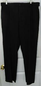 Savane 40 x 30 Mens Straight Fit Dress Gabardine Pants Black Stretch NWT $78