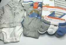 Baby Boy Newborn 3 Piece Bear Outfit 3 Bodysuits 2 Hooded Towels and socks