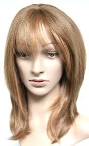 "Motown Tress HONEY ASH BLONDE 100% EUROPEAN HUMAN HAIR 18"" WOMEN'S WIG"