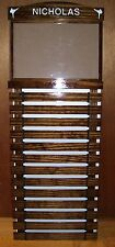 Walnut Stain Karate Belt Display Rack 13 Slats With Document Holder 11 X 17