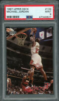 Michael Jordan Chicago Bulls 1997 Upper Deck Basketball Card #139 PSA 9 MINT