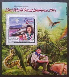 [SJ] Sierra Leone 23rd World Scout Jamboree 2015 Scouting Train Butterfly ms MNH