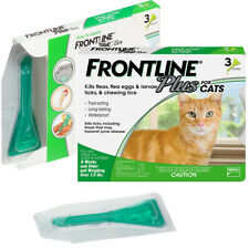Frontline Plus for Cats and Kittens Flea and Tick Treatment Flea Control 3 Doses