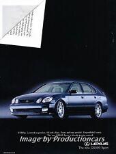 2000 Lexus GS300 Sport - Original Advertisement Print Art Car Ad J724