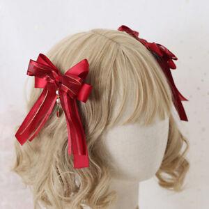 Japanese Lolita Strawberry Hair Pin Cute Hair Accessories Kawaii Bow Headwear