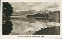 Loch lochy achnacarry looking to ben nevis real photo