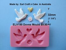 Wedding Doves Heart Silicone Mould Make Cake Toppers Gum Paste Cake Decorating