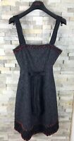 Moschino Cheap And Chic Ladies Uk Size 10 Strappy Wool Blend Embroidered Dress