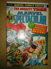 MARVEL SPECTACULAR # 1 VINTAGE THOR 128 LEE KIRBY 20c 1973 BRONZE AGE COMIC BOOK