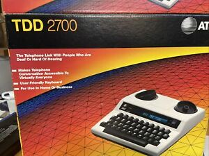 AT&T Advanced TDD 2700 Desktop Telephone For Hearing Impaired Box Manual