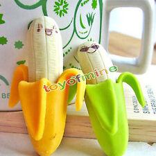 couleur 2pcs Banana Rubber Eraser Stationery Office Toy aléatoire