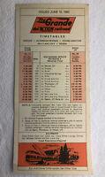 1982 RIO GRANDE RAILROAD TIMETABLE CARD; EFFECTIVE June 10, 1982