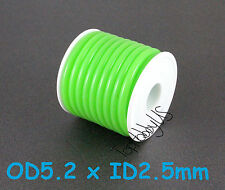 1Roll (16 ft) Green Silicone RC Nitro Fuel Line Tubing D5.2xø2.5 (US Seller)