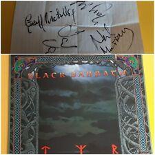 Black Sabbath Tyr 1990 original IRS vinyl album, with autographs. Tony Iommi.