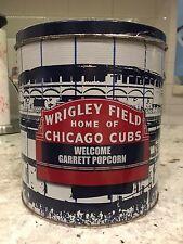 Chicago Cubs Wrigley Field popcorn tin Garrett Shops great collectors item