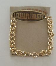 Lowrider Magazine Logo Jewelry Gold Wrist Bracelet  Oval Design