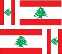 4x Adhesivo adesivi pegatina sticker vinilo bandera vinyl moto coche libano
