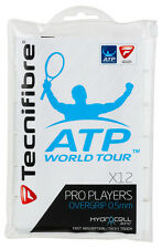 12 Tecnifibre Pro Players Grips/Overgrips - White - Free P&P