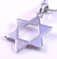 Estrella De David Magen Judaica Collar Colgante Plata Kabbalah Regalo Israel Judío