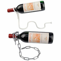 Magic Illusion Floating Wine Bottle Holder Rope Lasso Chain Wine Rack Novelty
