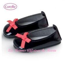 COROLLE - Ballerines noires à nœud rose pour poupée Les Chéries - Neuf - emballé