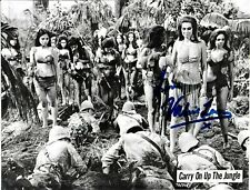 Valerie Leon Hand Signed Carry On Up The Jungle Autographed Original Promo Photo